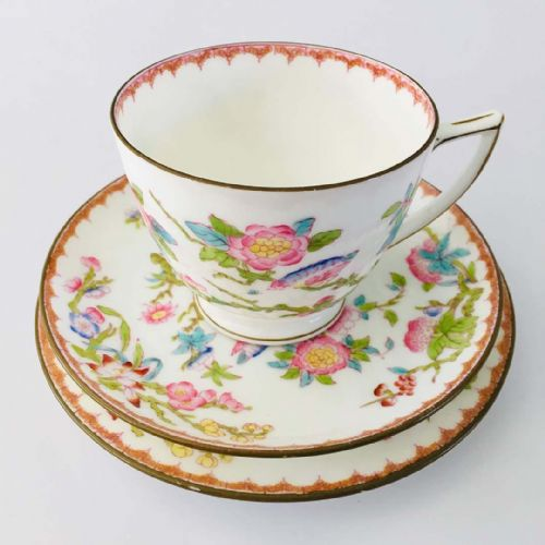 Minton - Bone China Trio  x  2 - Cuckoo -  40s 50s